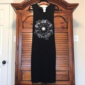 EUC Astrological Signs Black Tank Dress